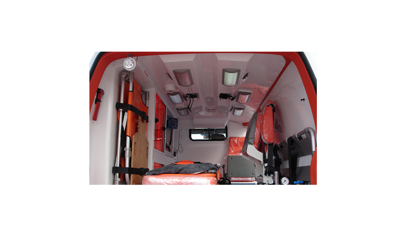 Ambulance Car, Internal Covering made in Fiber